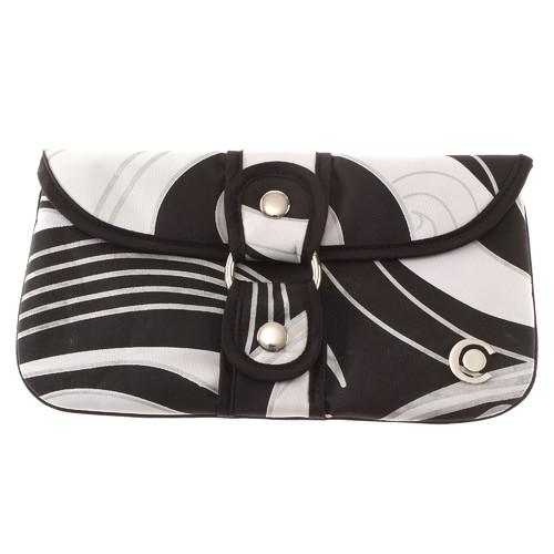 Cara Mia Swirl Wrap-around Clutch Bag in Black