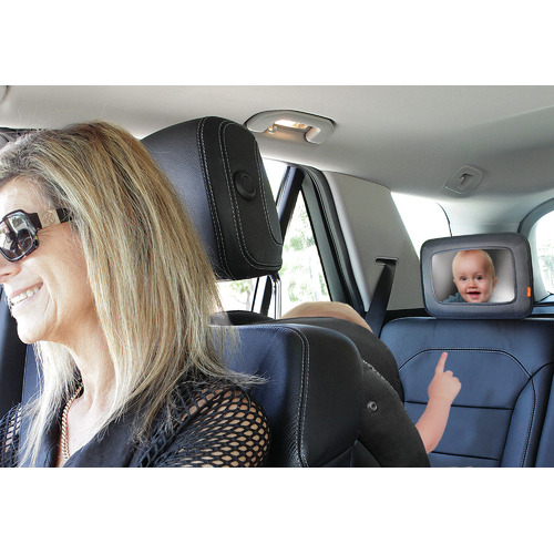 Dreambaby Black Backseat Car Mirror