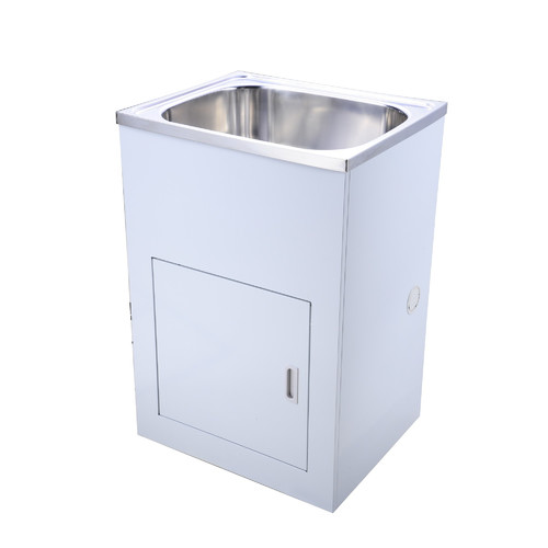 Stainless steel 60 cm 45l tub and cabinet temple webster for Bathroom cabinets 60cm