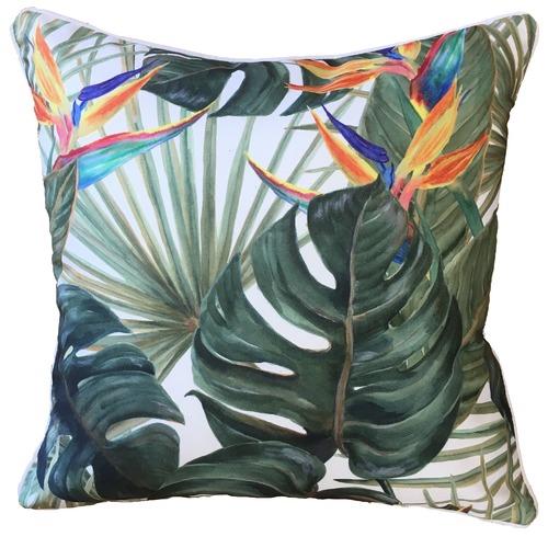 Bird of Paradise Printed Outdoor Cushion