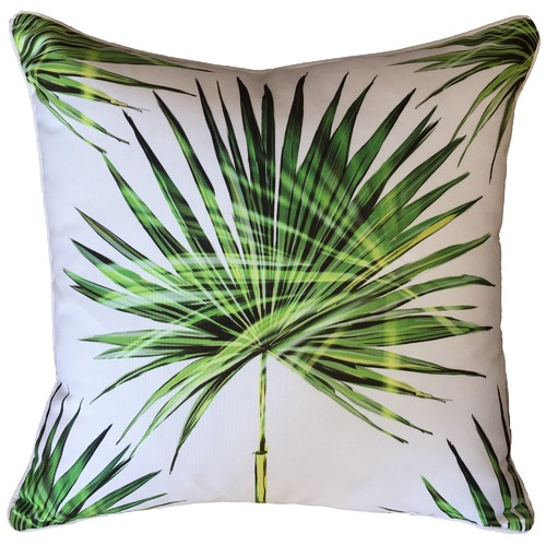 Glamour Paradise Large Fan Palm Print Outdoor Cushion
