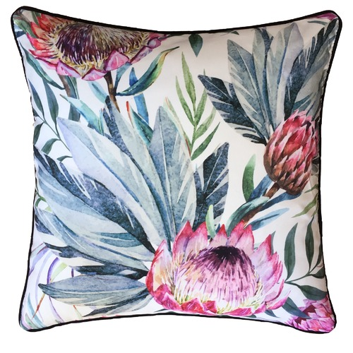 Glamour Paradise Protea Flower Outdoor Cushion