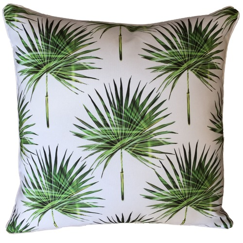 Glamour Paradise Small Fan Palm Print Outdoor Cushion