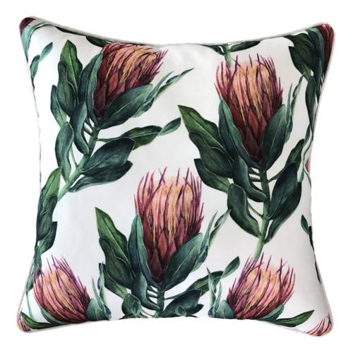 Glamour Paradise White & Pink Australis Outdoor Cushion