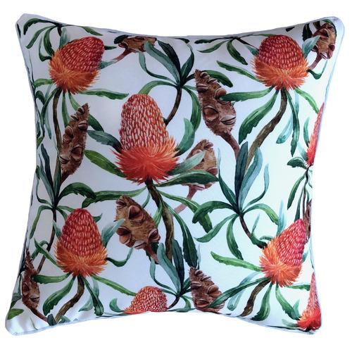 Glamour Paradise Bottle Brush Flower Outdoor Cushion