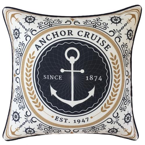 Boathouse Anchor Outdoor Cushion