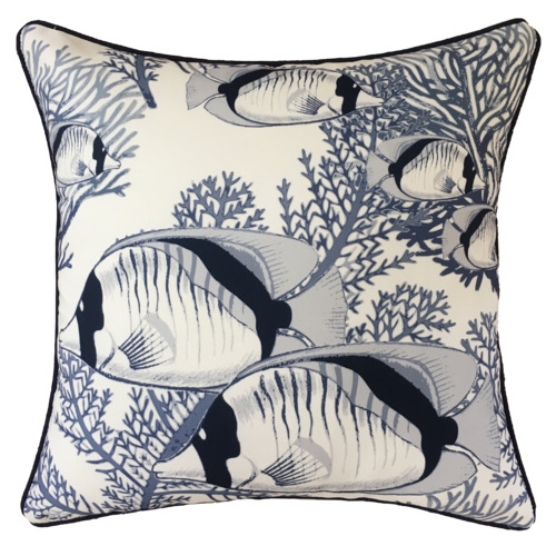 White Coral Cove Outdoor Cushion