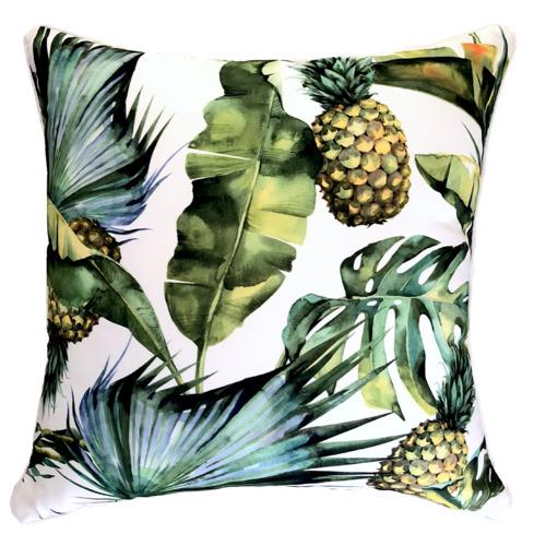 Jungle Fruits Leaf Outdoor Cushion