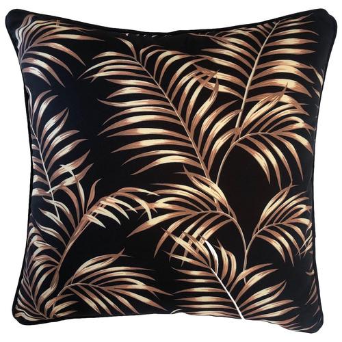 Black Bellagio Palm Outdoor Cushion