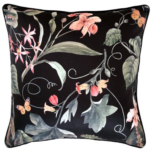 Sweet pea Black Outdoor Cushion
