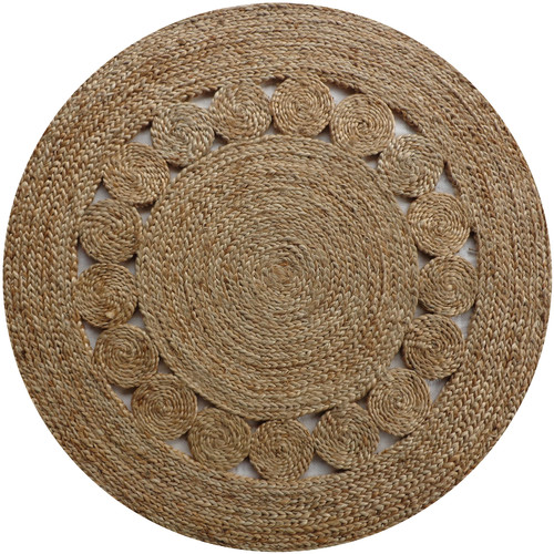 Jute Circle Pattern Round Rug Small Temple Amp Webster
