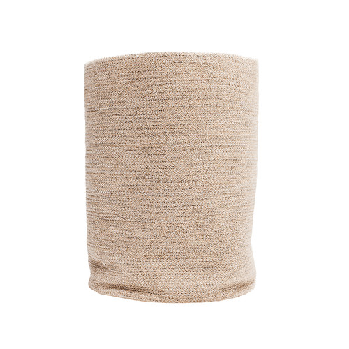 Doormat Designs Jute Laundry Basket Natural with White Stitch