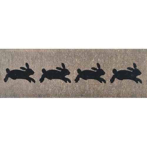 Doormat Designs French Rabbits Doormat