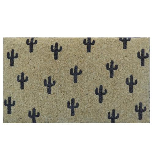 Doormat Designs Black Cactus Doormat