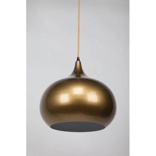 She Lights Mini Kirke 1 Light Pendant in Pearl Gold