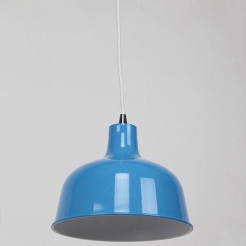 Light Blue 1 Light Metal Pendant