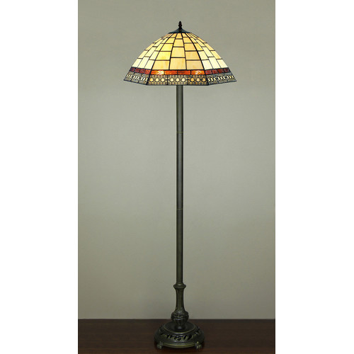 Forest Tiffany Two Light Valley Floor Lamp