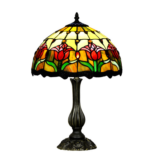 Tulip Style Stained Glass Table Lamp