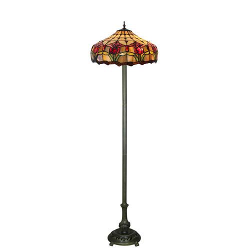 Forest Tiffany Two Light Tulip Floor Lamp