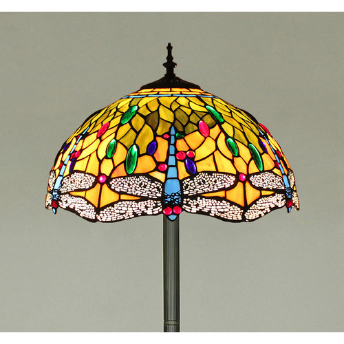 Forest Tiffany Tiffany Dragonfly 2 Light Floor Lamp