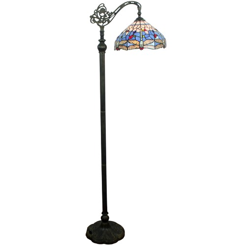 lighting style lamp amora tall floor lamps ep white c tiffany inches torchiere