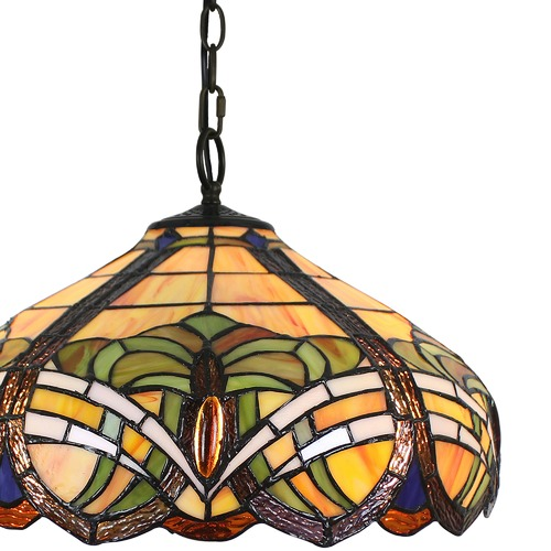 Forest Tiffany Baroque Tiffany-Style Pendant Light