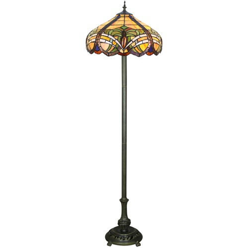 Forest Tiffany Baroque Tiffany-Style Floor Lamp