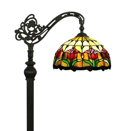 Forest Tiffany Tulip Tiffany-Style Floor Lamp