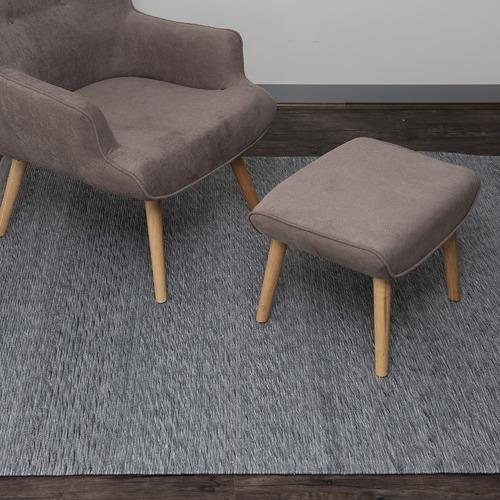 Dotts Rugs Dark Grey Helsinki Flat Weave Rug