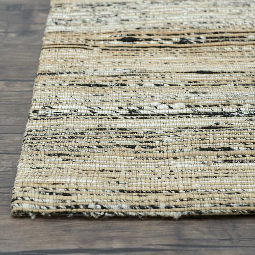 Dotts Rugs Black & Silver Jaipur Flat Weave Rug