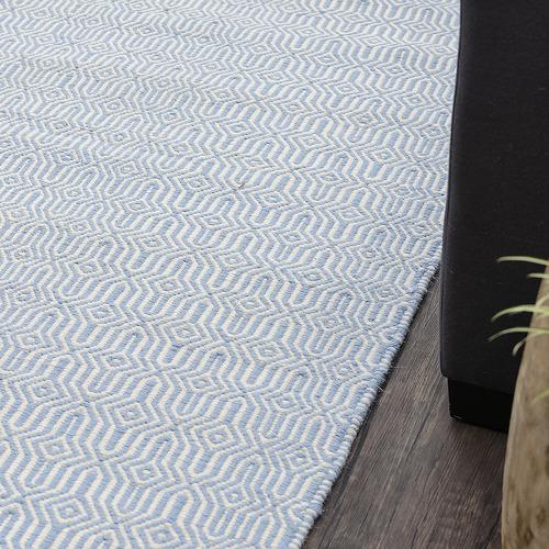 Dotts Rugs Blue Eye Marrakesh Kilim Wool Rug