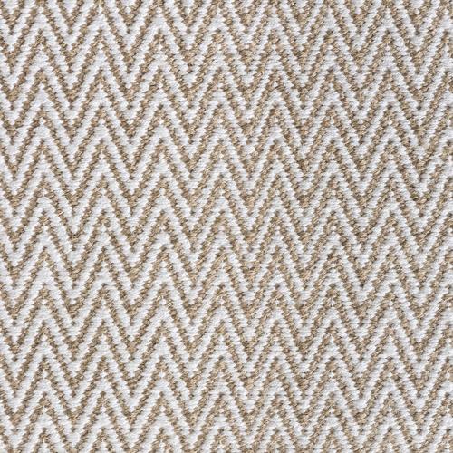 Dotts Rugs White Chevron Cotton & Jute Rug