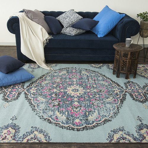 Dotts Rugs Blue Eastern Way Vintage-Style Rug