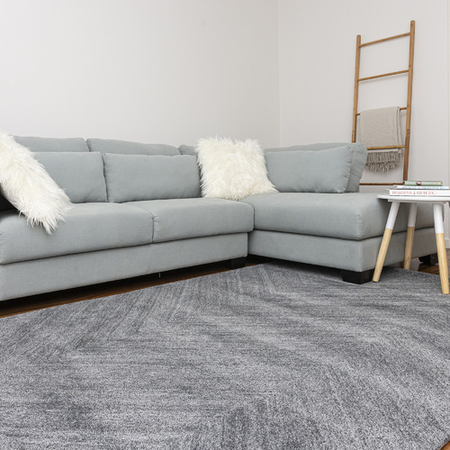 Dotts Rugs Grey Nuevo Wool-Blend Rug