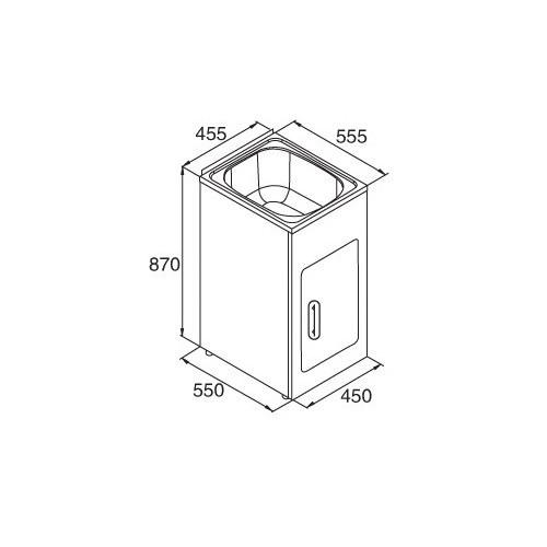 Roma Bathroom Ciampino 35L Compact Laundry Tub