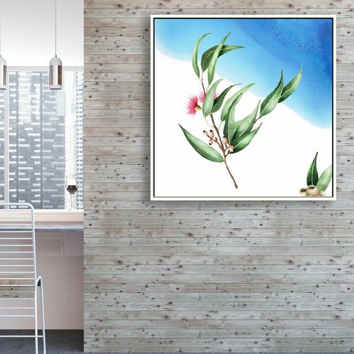Decor Abstract Art Blue Eucalyptus Canvas Wall Art