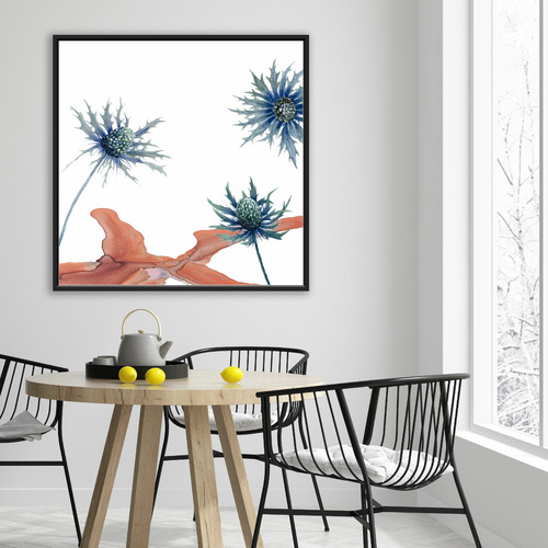 Decor Abstract Art Wild Flower I Canvas Wall Art