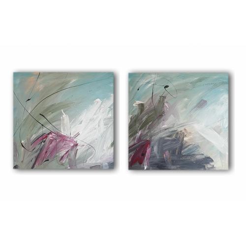 Decor Abstract Art 2 Piece Duo Verde Canvas Wall Art Set