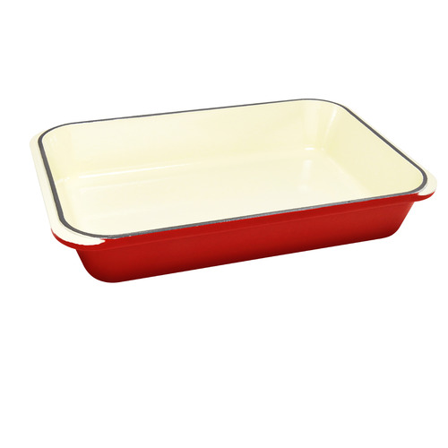 Duck Egg Inferno Red Chasseur W40 x D26cm Roasting Pan
