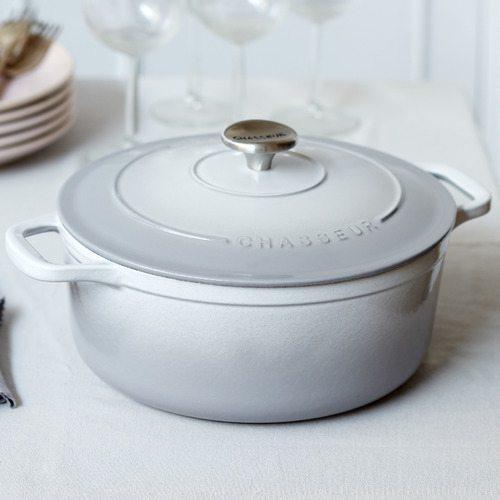 Celestial Grey Chasseur Classique 4L Cast Iron French Oven