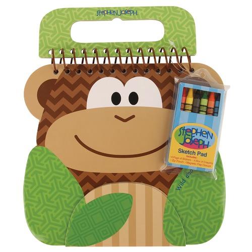 Stephen Joseph Brown Monkey Shaped Sketch Pad