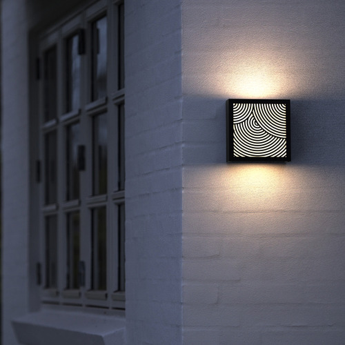 Maze Bended Pattern Exterior Wall Light