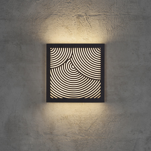Nordlux Maze Circles Pattern Exterior Wall Light