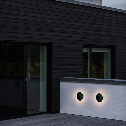 Nordlux Black Artego Round Exterior Wall Light