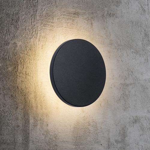 Nordlux Black Artego Round Exterior Wall Light