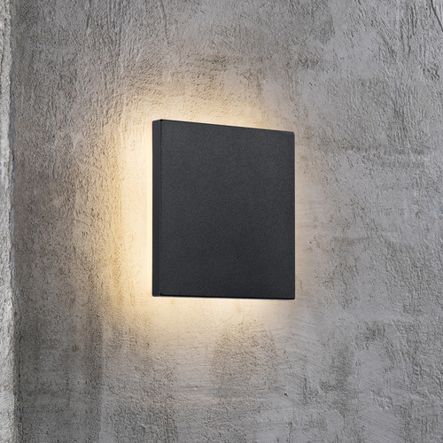 Nordlux Black Artego Square Exterior Wall Light
