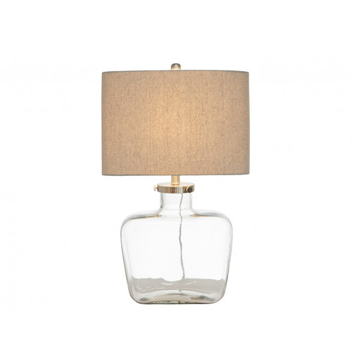 Global Gatherings Fillable Bottle Lamp With Linen Shade