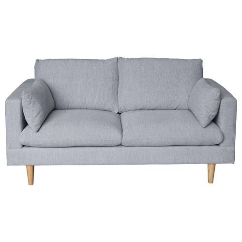 Latitude By Oneworld Light Grey Tia 2 Seater Sofa