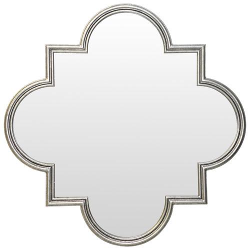 Global Gatherings Ornate Silver Mirror
