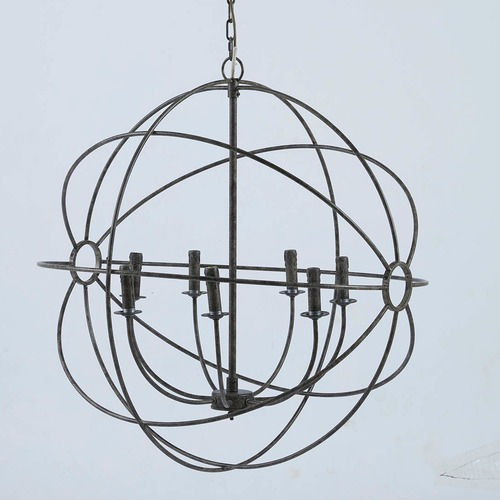 Taupe iron orb chandelier temple webster global gatherings taupe iron orb chandelier aloadofball Image collections